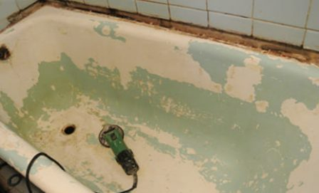 Подготовка ванны к эмалировке