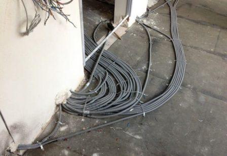 проводка в полу