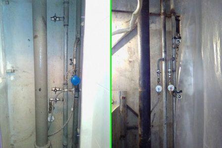 Стояки водоснабжения жилого дома