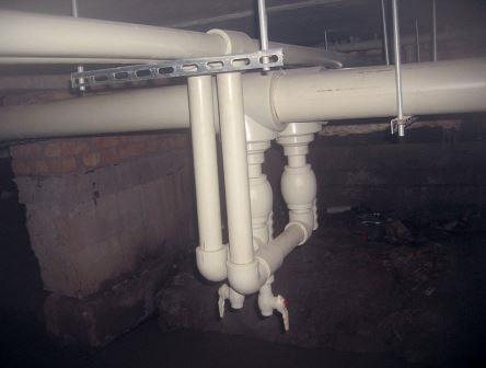 магистраль водопровода в многоквартирном доме