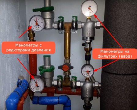 постоянно измерить давление воды