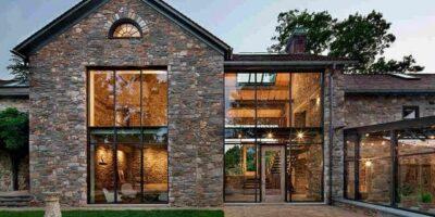 современные дома из камня